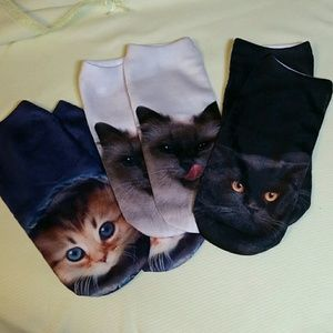 Adorable Kitty Socks 3 pair